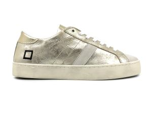 D.A.T.E. HL-ST-PL  SNEAKER DONNA IN PELLE PLATINO