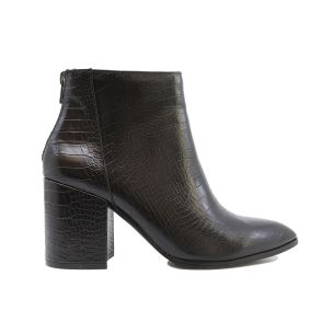 STEVE MADDEN JILLIAN BLACK CROCODILE STIVALETTO NERO CON ZIP