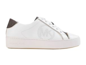 MICHAEL KORS KIRBY LACE UP SNEAKER DONNA BIANCA MARRONE