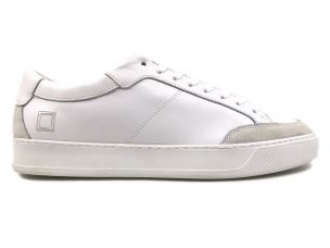 D.A.T.E. JE-CA-WH SNEAKERS UOMO IN PELLE BIANCA