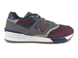 NEW BALANCE ML597BGN GREY RED SNEAKER UOMO