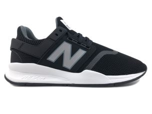 NEW BALANCE MS247FF SYNTHETIC MESH BLACK SNEAKER UOMO