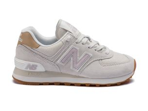 NEW BALANCE ML574LCC PIGSKIN CANVAS SAND GREY PINK SNEAKER DONNA