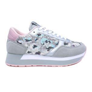 SUN68 Z30216 06 KATE PAILLETTES ANIMAL SNEAKER DA DONNA GRIGIO