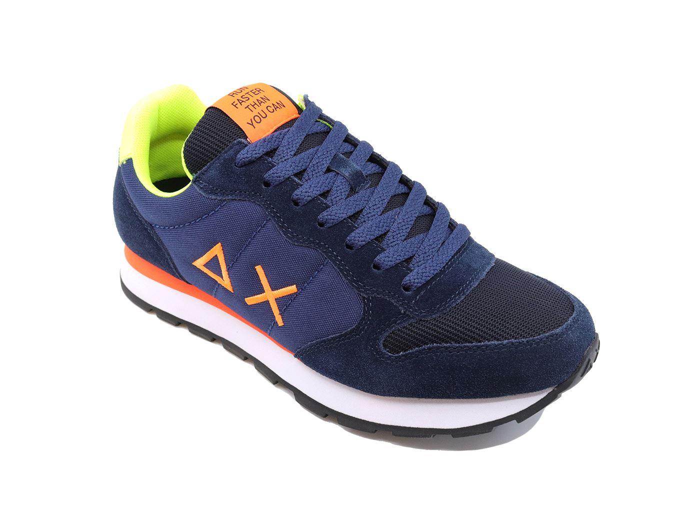 Scarpe Sneakers Sun68 uomo tom fluo navy blue Z40102 07