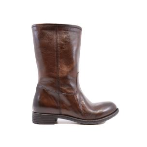 CRISPINIANO 150 STIVALETTO DONNA IN PELLE MARRONE