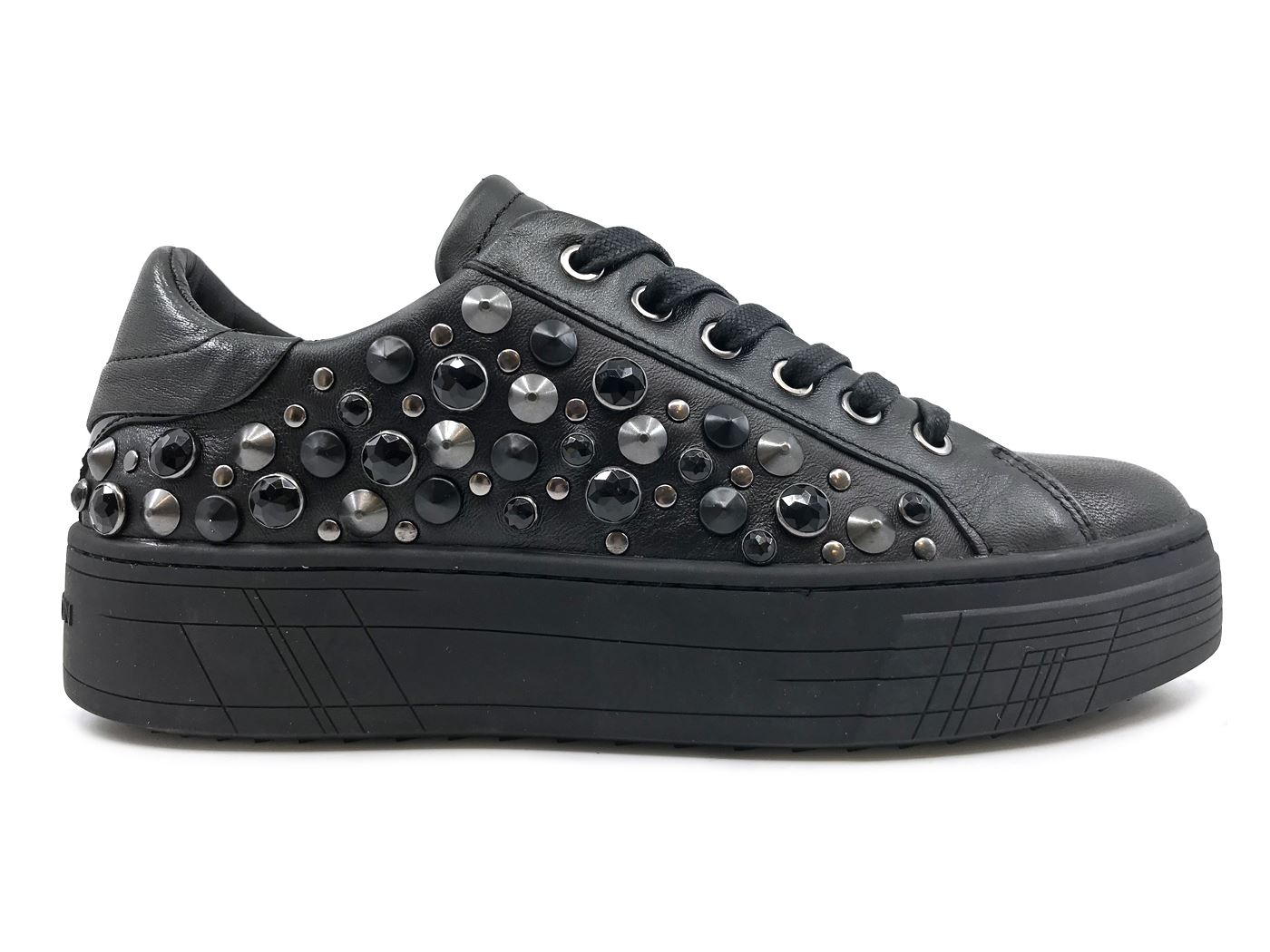 CRIME LONDON 25345 SNEAKER DONNA IN PELLE NERA