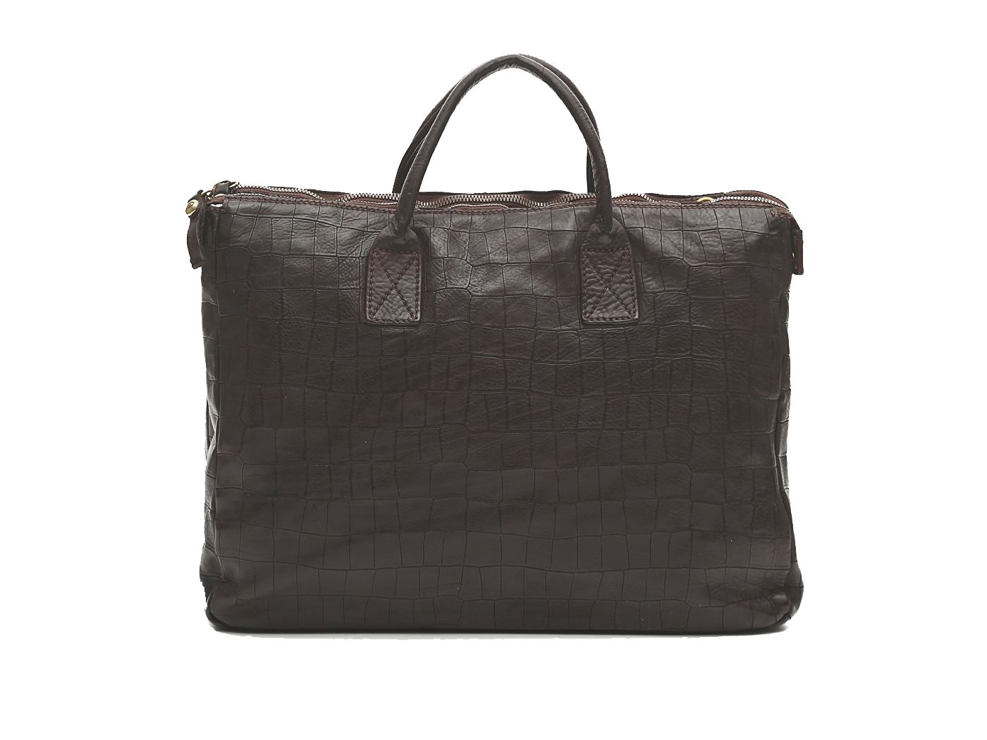 CAMPOMAGGI C018670ND X0798 C1501 BORSA IN PELLE MARRONE