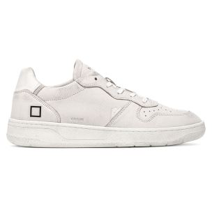 D.A.T.E. CR-MO-WH SNEAKERS UOMO IN PELLE BIANCA