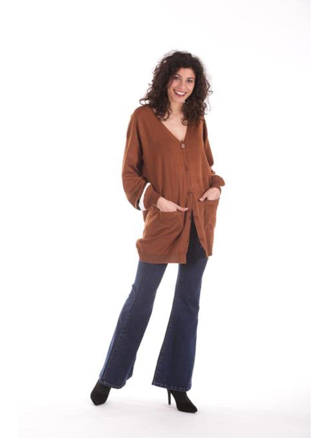 Cardigan maniche lunghe righe