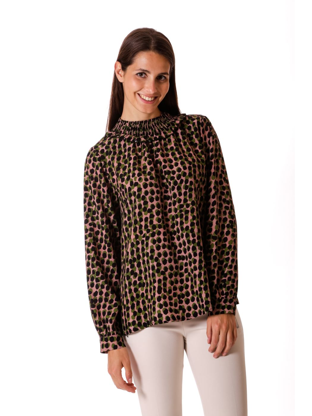 Blusa over stampa pois