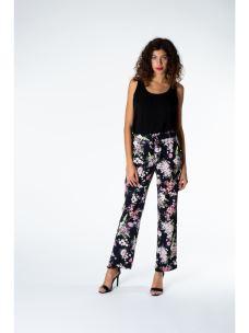 Pantaloni jogger fiori