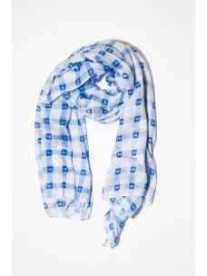 Foulard quadri azzurro