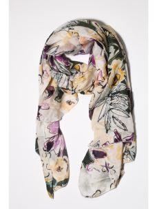 Foulard fiori multicolor