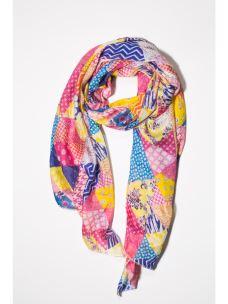 Foulard patchwork geometrico