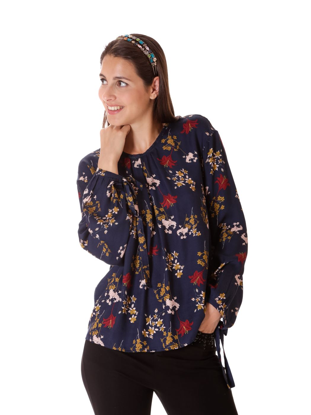 Blusa stampa floreale