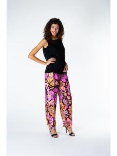 Pantaloni a palazzo fiori