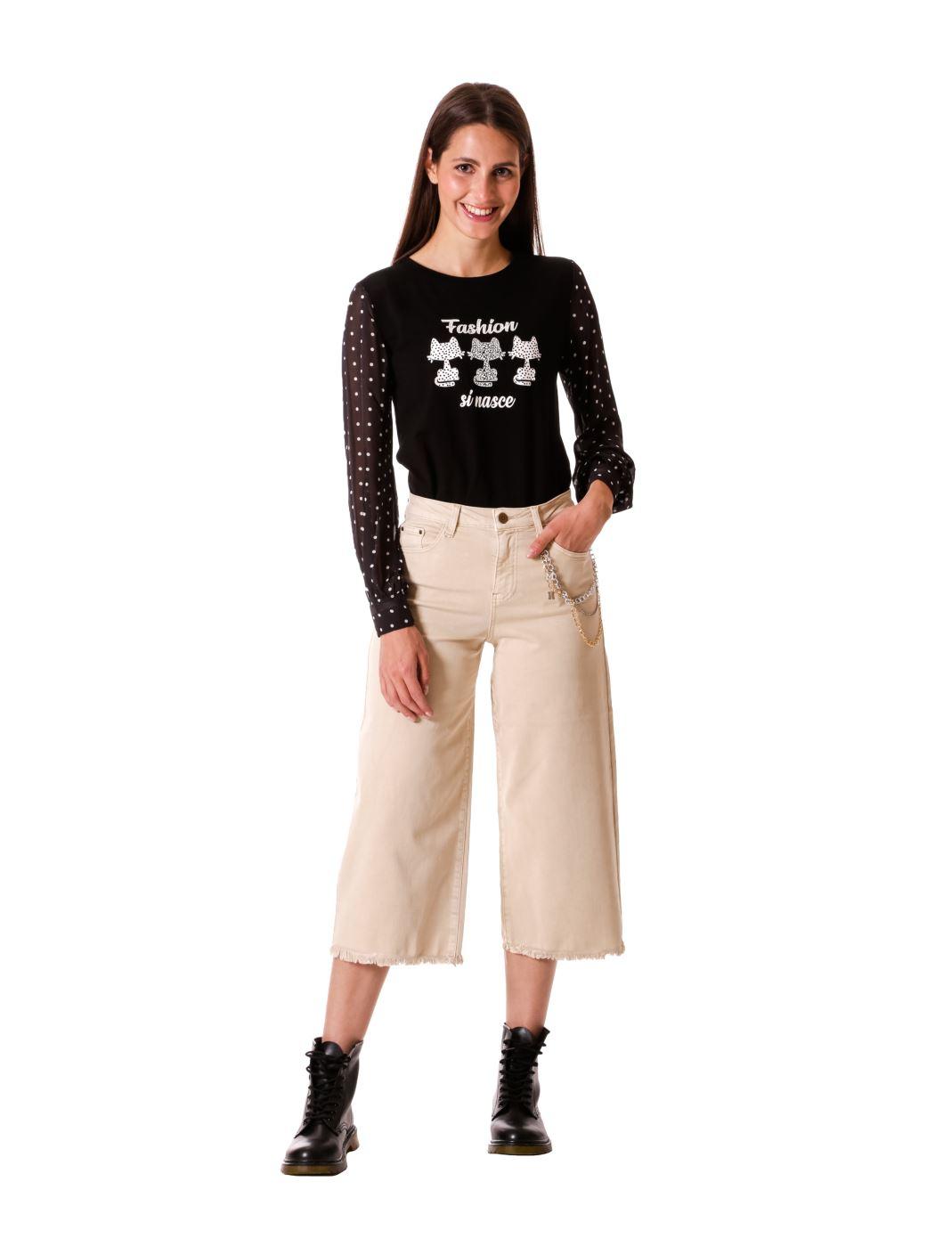 jeans marine con catena removibile