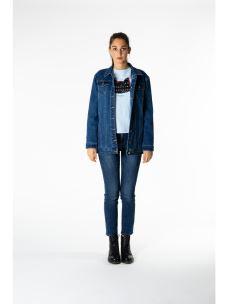 Giubotto jeans Oversize