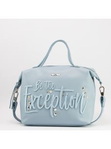"Borsa a braccio ""Be the exception"""