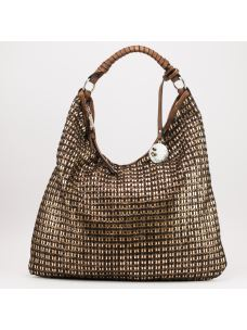 Borsa hobo Lurex due manici