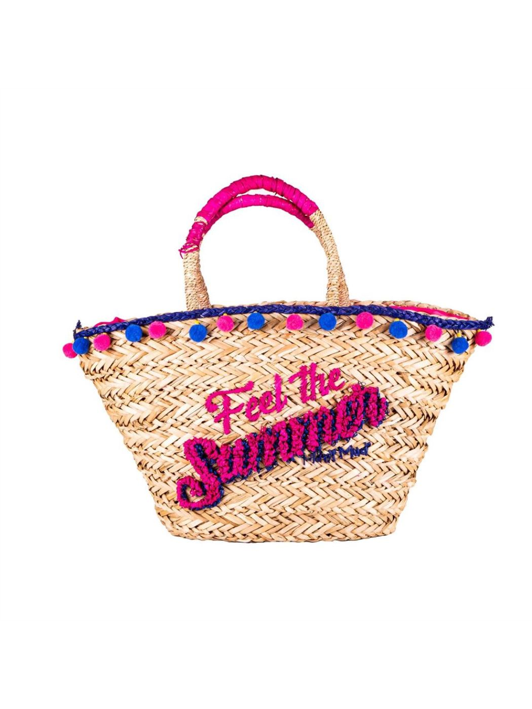 "BORSA MARE PAGLIA ""FEEL THE SUMMER"""
