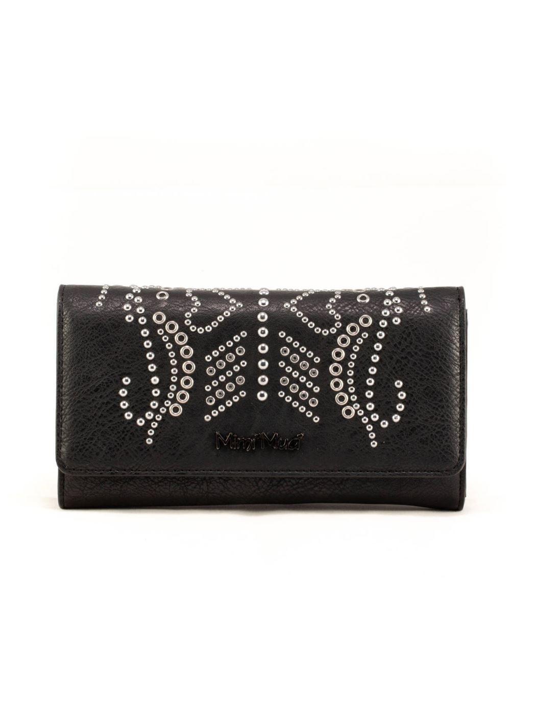 Borsa a portafoglio con mini borchie