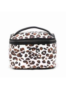 Beauty case a bauletto stampato
