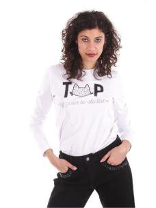 "T-shirt ""TOP"" con gatto"