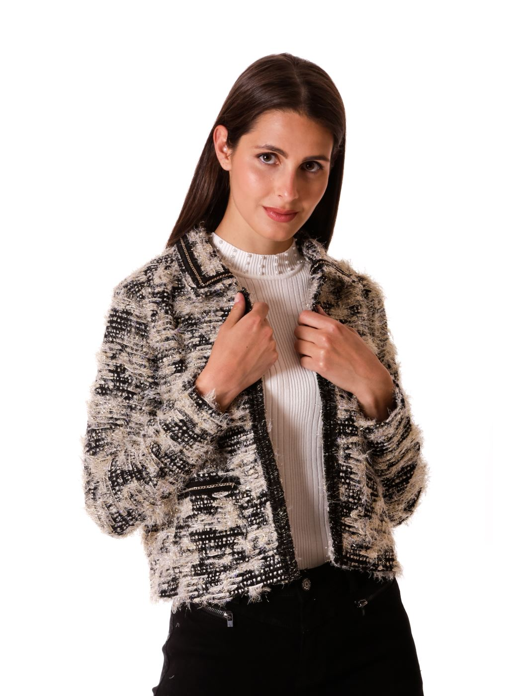 Giacca boucle' stile Chanel