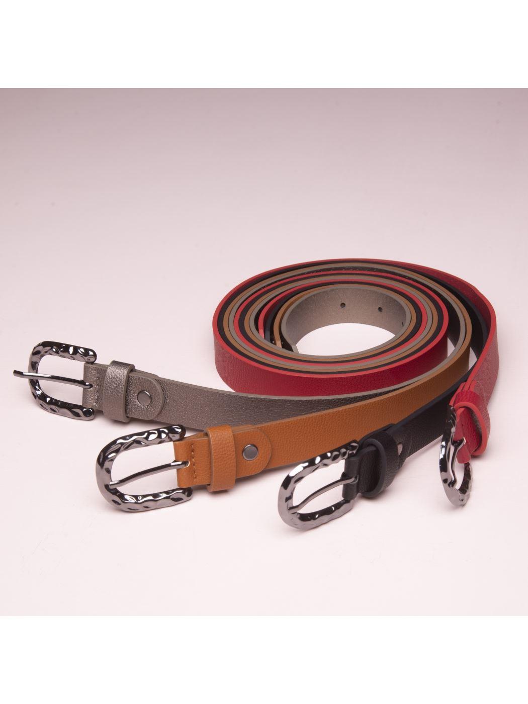 Cintura rigida con fibbia metallica ovale