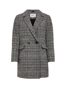 CAPPOTTO ONLY CHECKED WOOL COAT