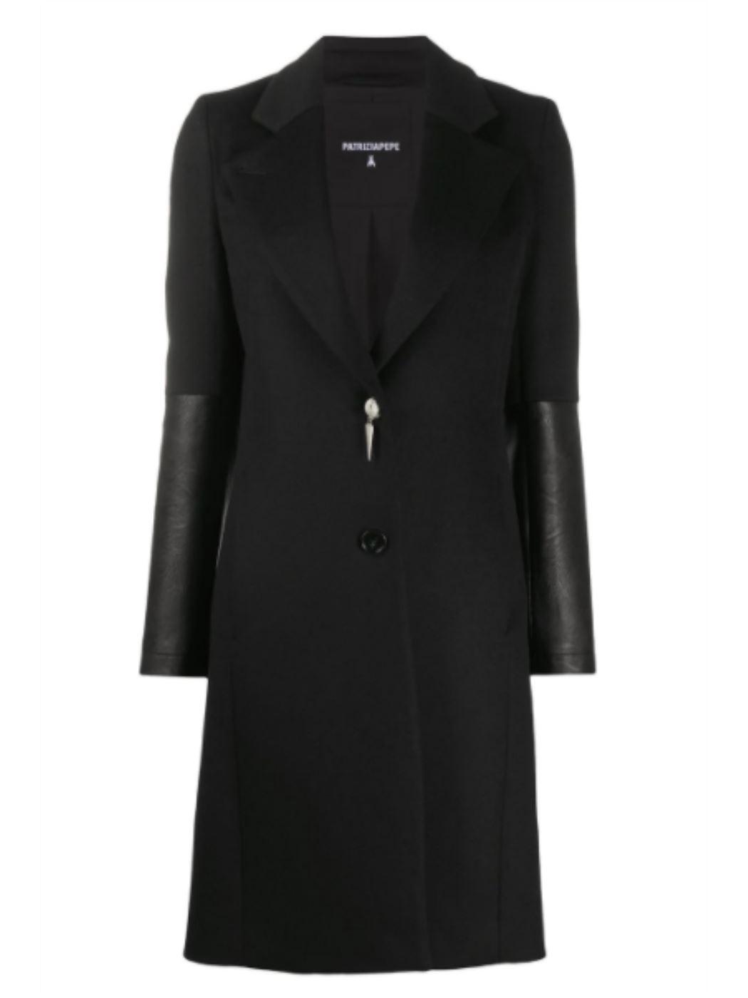 Cappotto con pannelli in pelle  2S1327A171