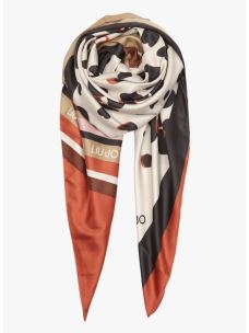 LIUJO Foulard pop flower coffee milk 2A0019T0300-1