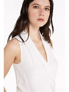 PATRIZIA PEPE Camicia body bianco in crêpe de chine 2C0901AV35
