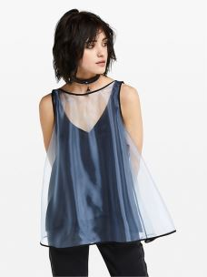 patrizia pepe top in organza giapponese 2C1139-A3LG