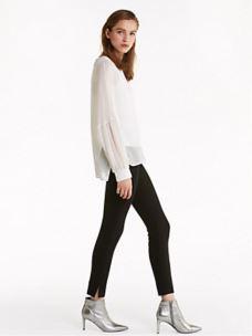 PATRIZIA PEPE Pantalone skinny a vita alta nero 2P1175A1DX NERO
