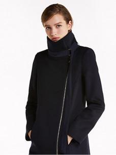 PATRIZIA PEPE Cappotto in panno di lana blu 2S1229A171