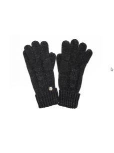 liujo guanti maglia a treccia NERO 369011M0300