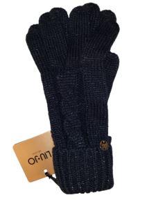 Guanti in maglia con lavorazione a trecce   369011M0300-2