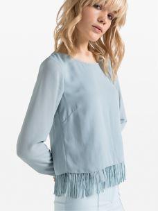 patrizia pepe blusa in tessuto georgette 8C0270-A840