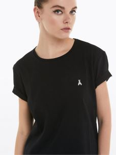 patrizia pepe t-shirt con stampa tag 8J0908A4V5