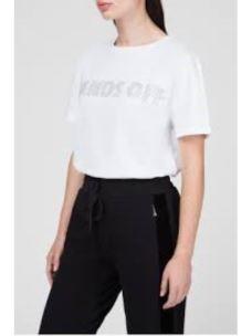PATRIZIA PEPE T-shirt con letterig applicato 8J0917A4V5