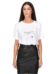 PATRIZIA PEPE t-shirt stampa e strass 8M1059A7J7