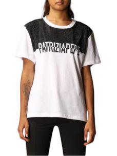 PATRIZIA PEPE t-shirt con strass e logo 8M1105A7J9
