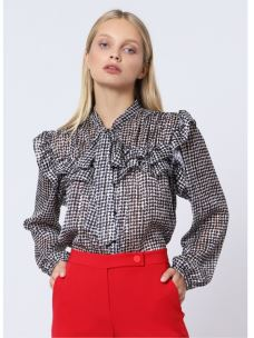 IMPERIAL camicia fantasia con rouches CJD8AHF