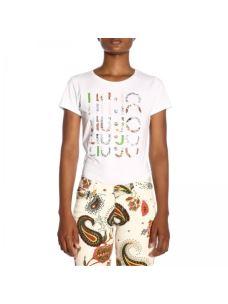 liu jo t-shirt moda con logo F19313J5003