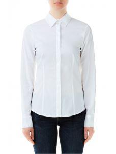 LIU JO Camicia classica slim fit in cotone stretch FA0418T4169