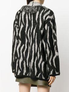 LIUJO cappotto maglia jacquard frange M69145MA84I