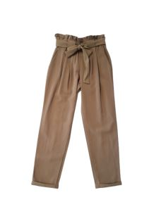 KONTATTO Pantalone con pinces a vita alta con cinta  MG205